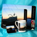 China Mug and Coaster and 1 Small Placemat and 1 Large Placemat